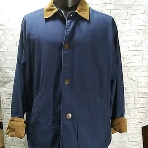 J.Crew Men's Button Front Jacket Blue Sz M